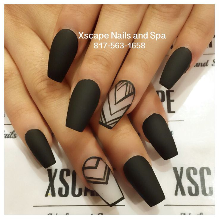 Matte negative space nail designs