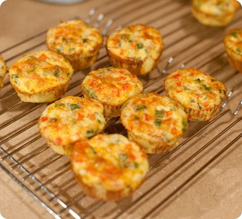 Egg muffins - these are great to make on a Sunday night, and grab throughout the week. I also added broccoli and ham :) TIP: Make sure you SERIOUSLY grease the muffin liner. Seriously.