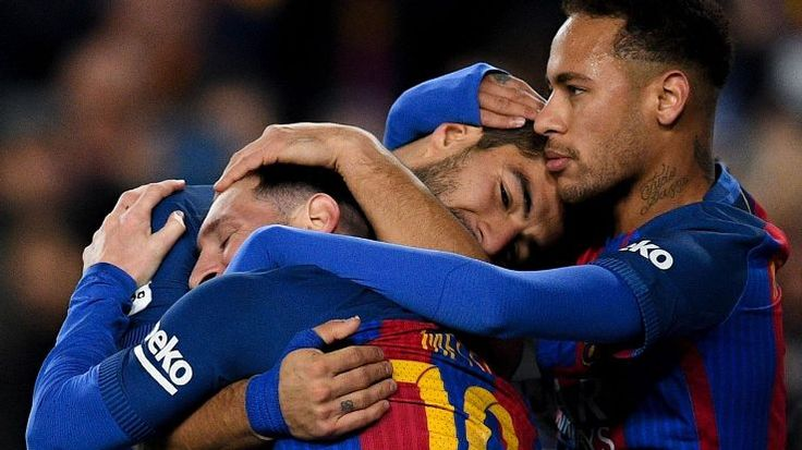 Lionel Messi, Luis Suarez and Neymar thoroughly enjoyed their Sunday afternoon against Espanyol.