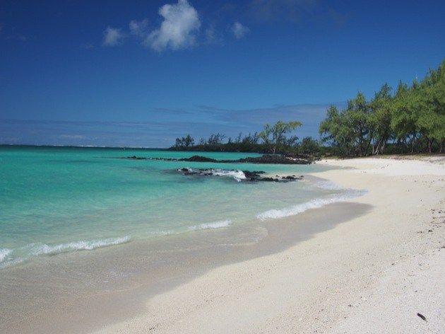 Les plus belles plages de l'île Maurice. Sur la photo : la plage de l'île aux cerfs