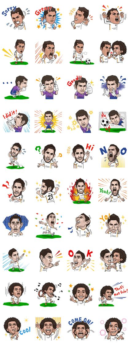 Real Madrid's Official Stickers Line Sticker - Rumors City