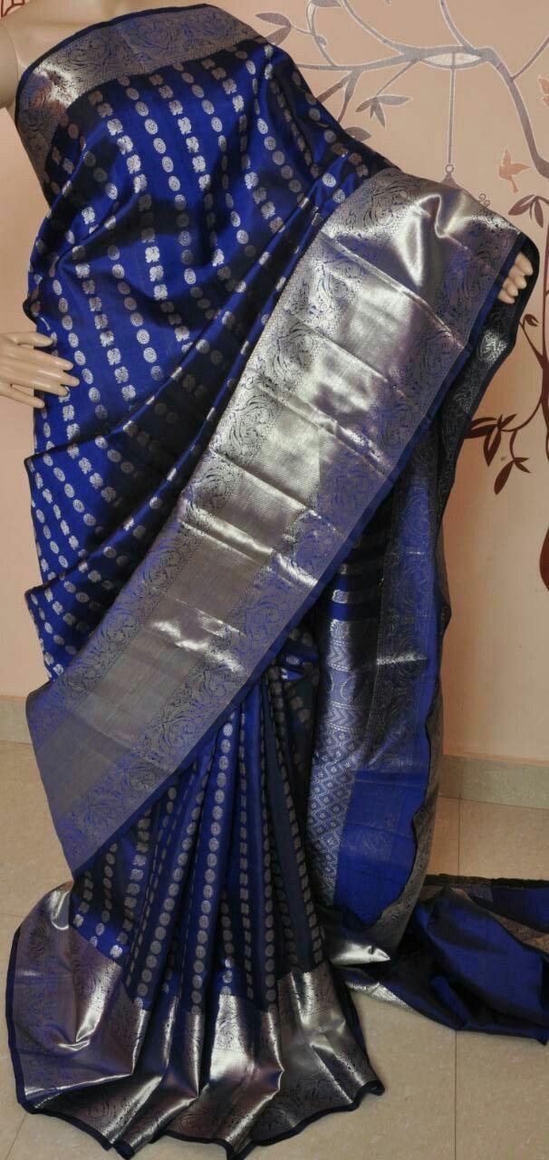 4e3449b2b87a7 Pure kanchipuram silk Sarees silver zari 14500+  Order what s app 7093235052