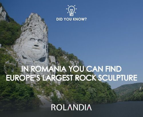 The rock sculpture of Decebalus portrays the last king of Dacia.