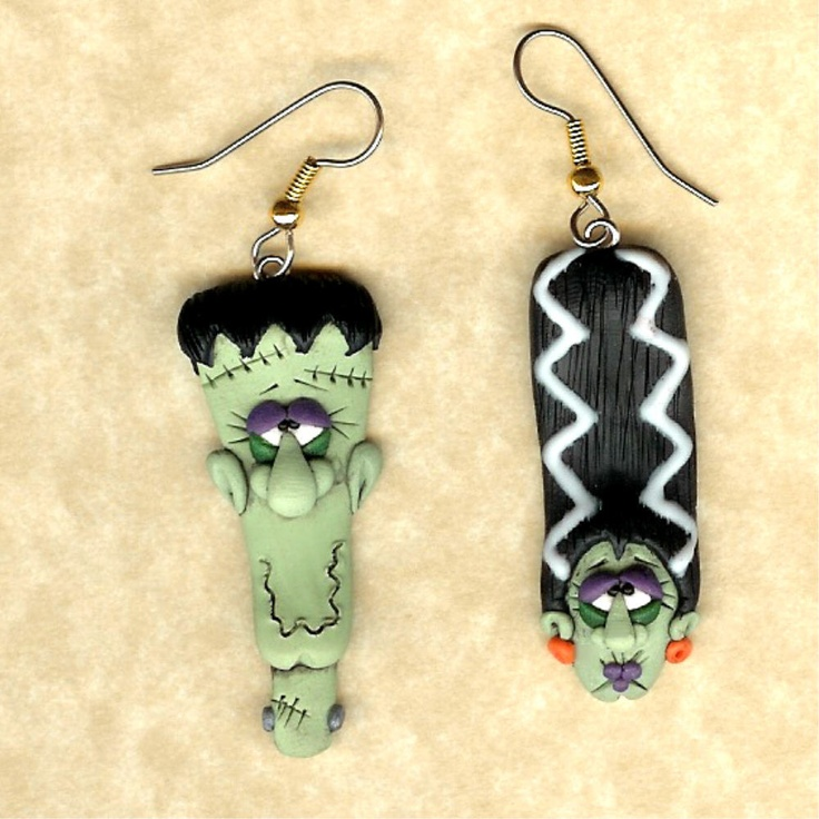 earrings for Halloween by Darlene Hardenbrook (polymer clay)