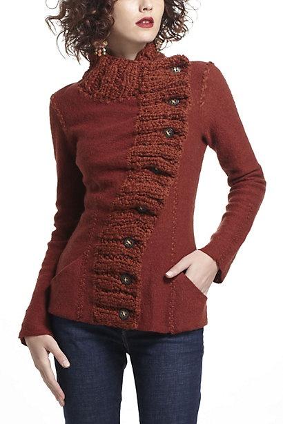 Transverse Placket Sweater #anthropologie