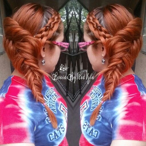5 Strand Headband into a side Dutch Fishtail Braid  Inspired by @cute_and_glossy