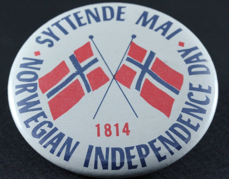 Vintage Norwegian Independence Day Collectors Pin. $6.00, via Etsy.