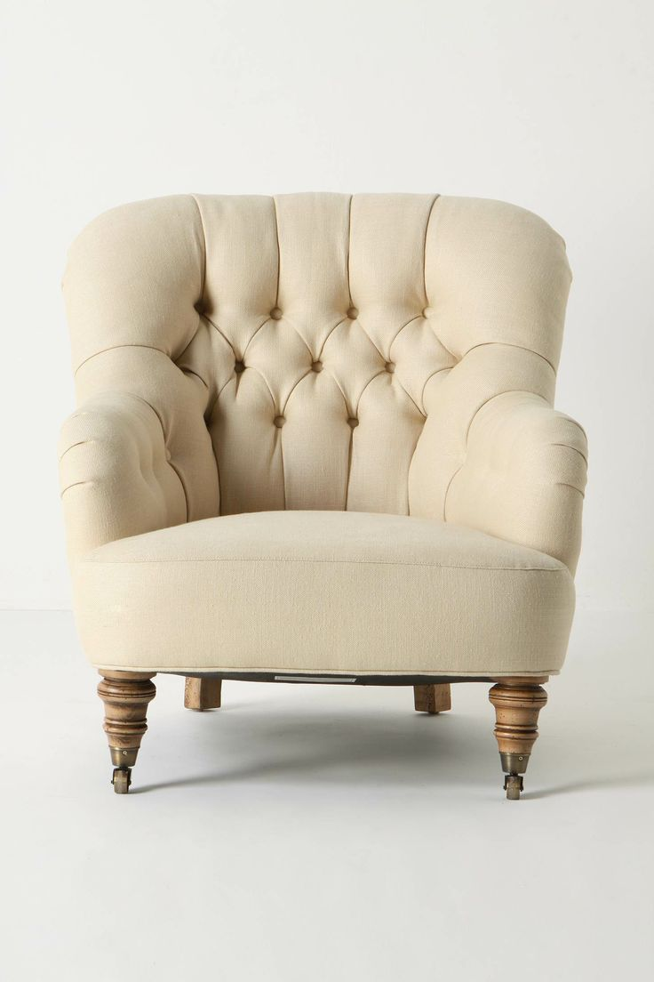 corrigan chair from anthro...linen!: Living Rooms, Cozy Chairs, Master Bedrooms, Reading Chairs, Linens Corrigan, Studios Couch, Comfy Chairs, Tufted Chairs, Corrigan Chairs