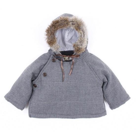 noro grey hooded baby jacket