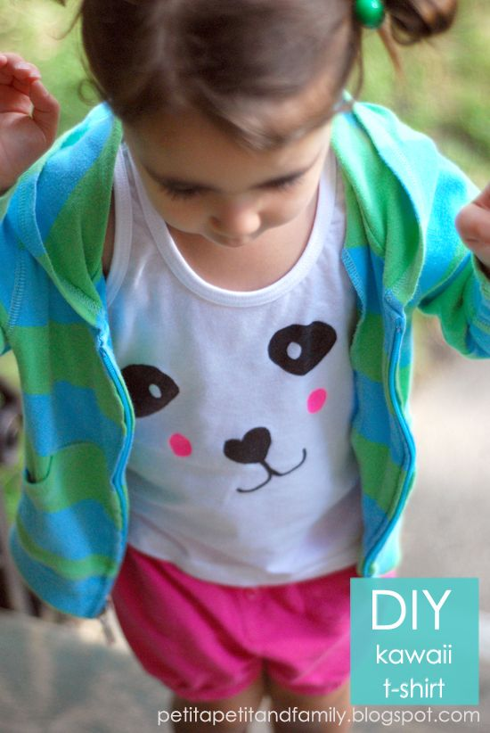 Llevo el invierno: Guest post.... D.I.Y. Kawaii T-shirts by Celina.