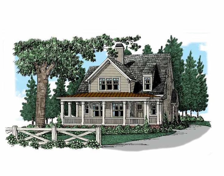 Eplans Farmhouse House Plan Charming Narrow Lot Three Bedroom 2202 Square