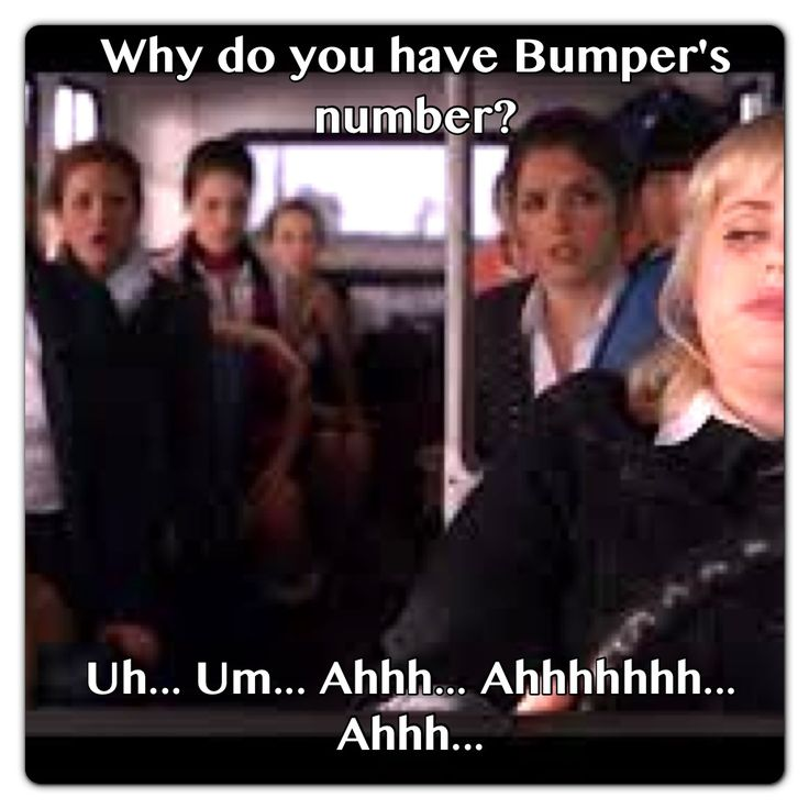 Pitch Perfect, Why Do You Have Bumper's Number?...
