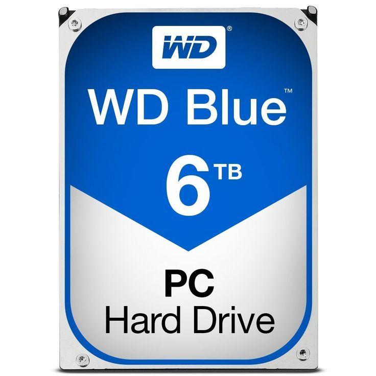 WD Blue 6TB Desktop Hard Disk Drive 5400 RPM SATA 6 Gb s 64MB Cache 3.5 Inch WD60EZRZ