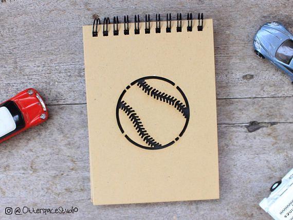 Baseball Softball Notebook  Sport Spiral Notepad  Ball