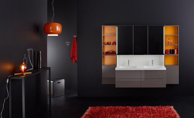 #marron #brown #salledebain #bathroom #conceptwall #Burgbad #meubles #lavabo