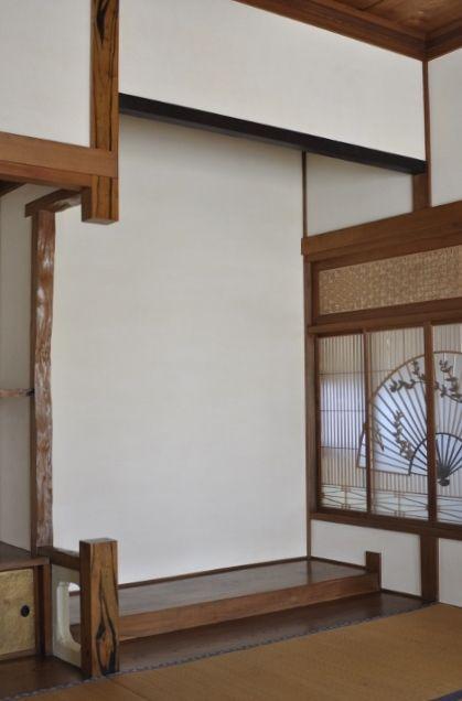 和室床の間-漆喰壁