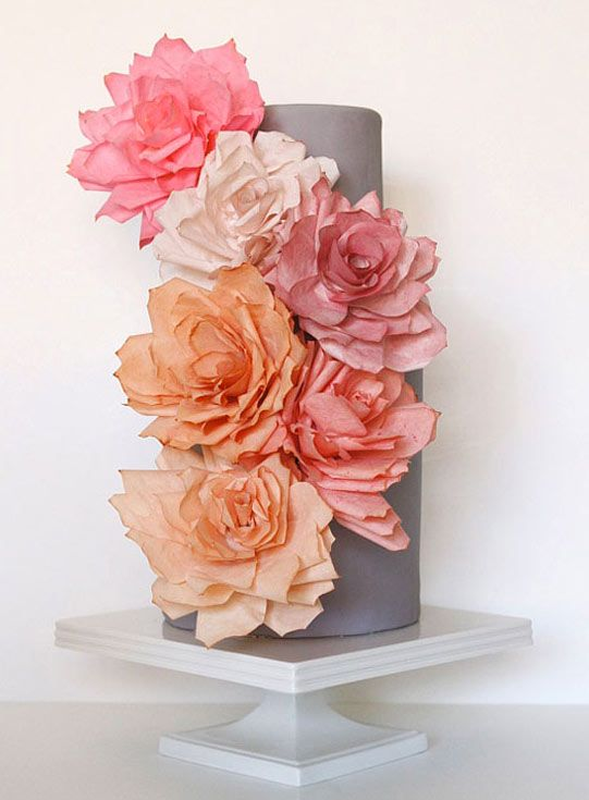 19 best wafer paper images on pinterest gum paste flowers sugar petal power edible paper flower cake toppers mightylinksfo