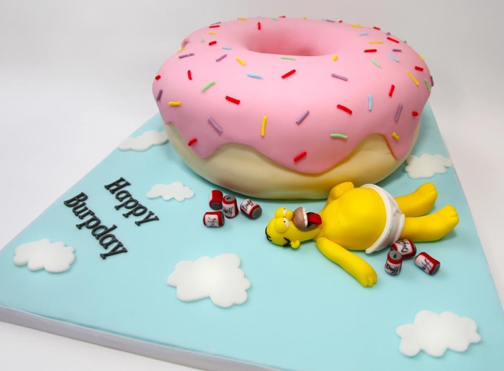 Homer Simpson Cake made by Nifty Cakes. www.niftycakes.co.uk  www.facebook.com/niftycakes  https://fbcdn-sphotos-b-a.akamaihd.net/hphotos-ak-prn2/971159_307936522673221_1525103158_n.jpg