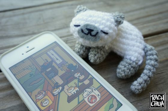 FREE PATTERN: Sleeping Neko Atsume Kitty