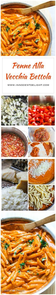 Penne Alla Vecchia Bettola –  pasta recipe with Oven Roasted Tomato Sauce from the famous East Hampton's restaurant: Nick and Toni's, featured by Ina Garten on Food Network – Barefoot Contessa; with my little twist of using fresh tomatoes from my own garden.