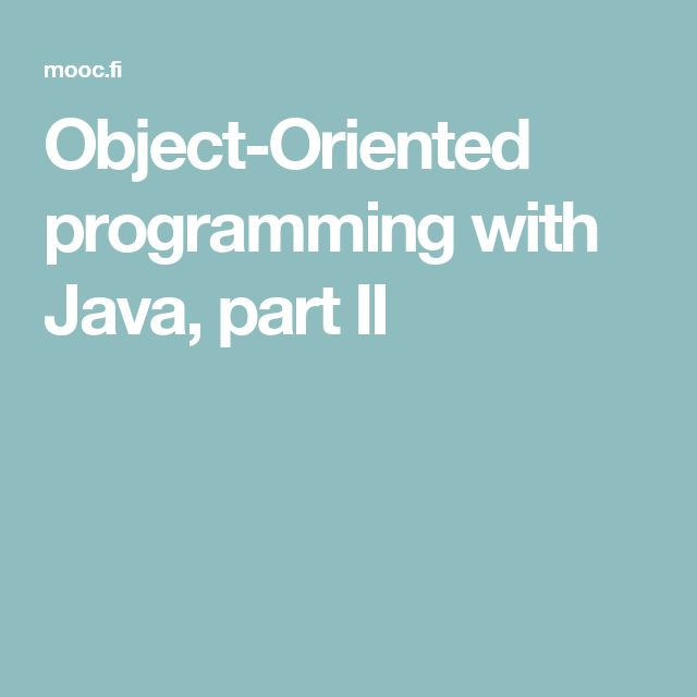 Lesson 8: Object-Oriented Programming