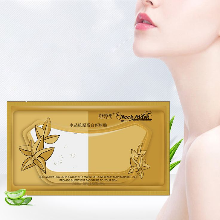 1Pcs Beauty Pilaten Collagen Crystal Neck Mask Anti-Aging Anti-Wrinkle Moisturizing Whitening Masks Makeup Mask For Neck Care
