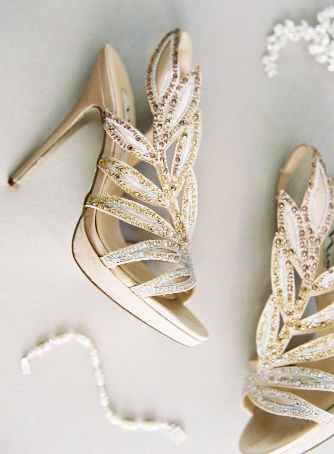 Gold embellished stilettos: http://www.stylemepretty.com/little-black-book-blog/2016/10/20/modern-romantic-indoor-wedding-virginia/ Photography: Michael and Carina - http://www.michaelandcarina.com/