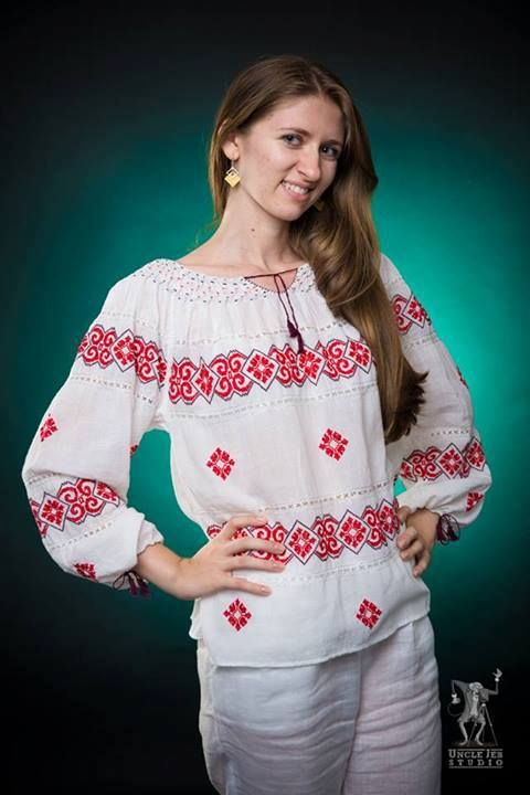 Iuliana's smile gives the traditional Romanian Label blouse real value! Photo: Uncle Jeb Studio