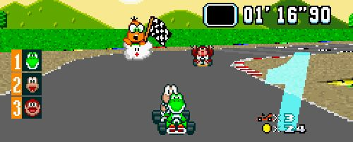 Snes games yiu can play online. Mario Kart.