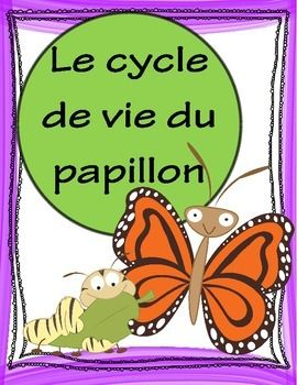 'Le cycle de vie du papillon' posters for your classroom. Butterfly Life Cycle Poster Set includes 5 butterfly life cycle stages, 5 arrows and title page to create a bulletin board display IN FRENCH! Each poster is a full page but could be printed 2 or more to a page for a mini-poster set! Also 2 student work pages; label the stages of the butterfly life cycle; label & draw the 5 stages.