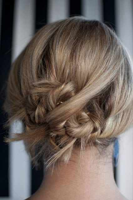 Pretty up-do. I love the spikey pieces :)
