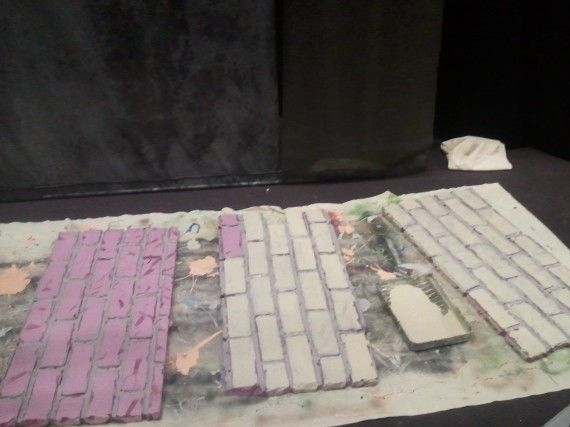 creating faux brick panels ~ Church stage design ideas