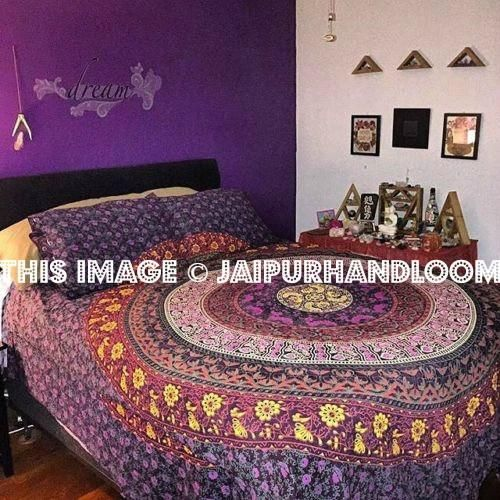17 Best Ideas About Purple Bohemian Bedroom On Pinterest