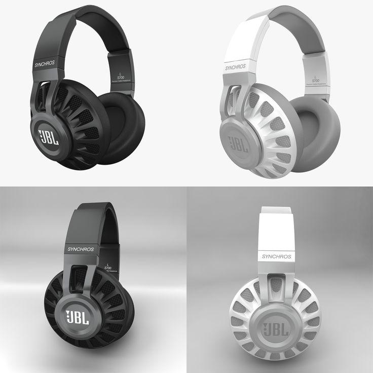 JBL S700  headphones electronics jbl synchros s700 black audio music studio mp3 detailed speakers dj disco  Modeling: 3ds Max 2009 Rendering: V-Ray 2.0 Polygons: 22 424 Vertices: 24 769