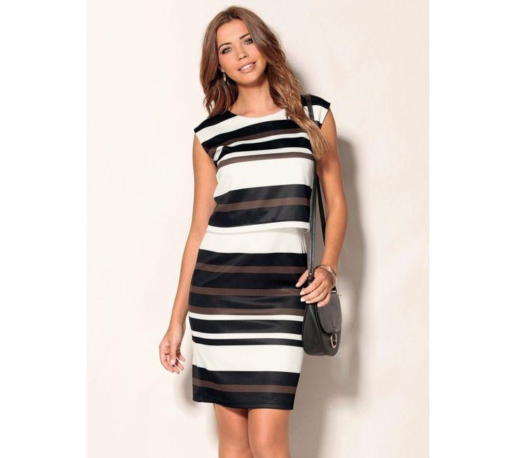Šaty bez rukávů, s efektem 2 v 1 | modino.cz  #ModinoCZ #modino_cz #modino_style #style #fashion #spring #summer #dress