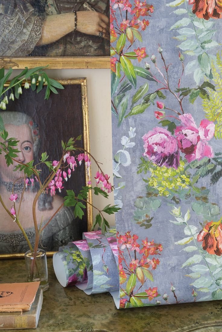 #DesignersGuild Tulipani #wallpaper - available now from #Amity - call 01689878418 or contact info@amity.uk.com for more info