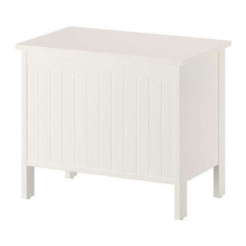 SILVERÅN Banco con cajón - blanco  - IKEA Para el baño