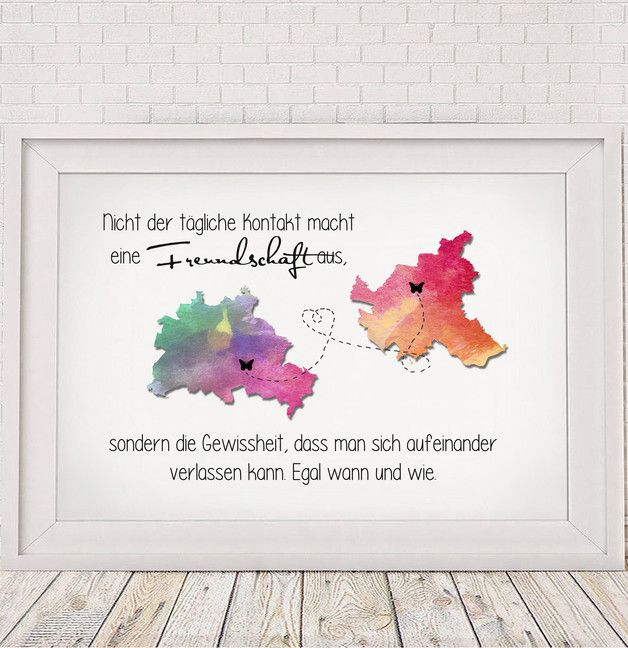 "Originaldruck - ""Freundschaft"" - Kunstdruck von Hug-in-a-Cup via DaWanda.com"