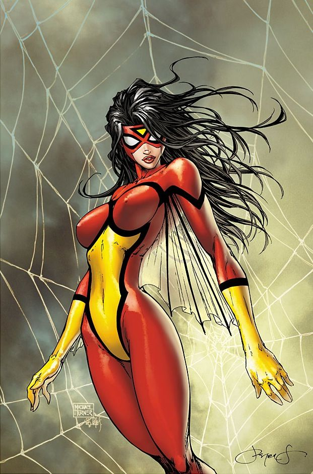Spider-Woman, by Comic Artist Michael Turner (R.I.P.) #Comics #Illustration #Drawing