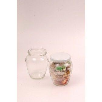 Borcan 314 ml amfora cu capac TO63 | Borcane pt cadouri marturii nunta