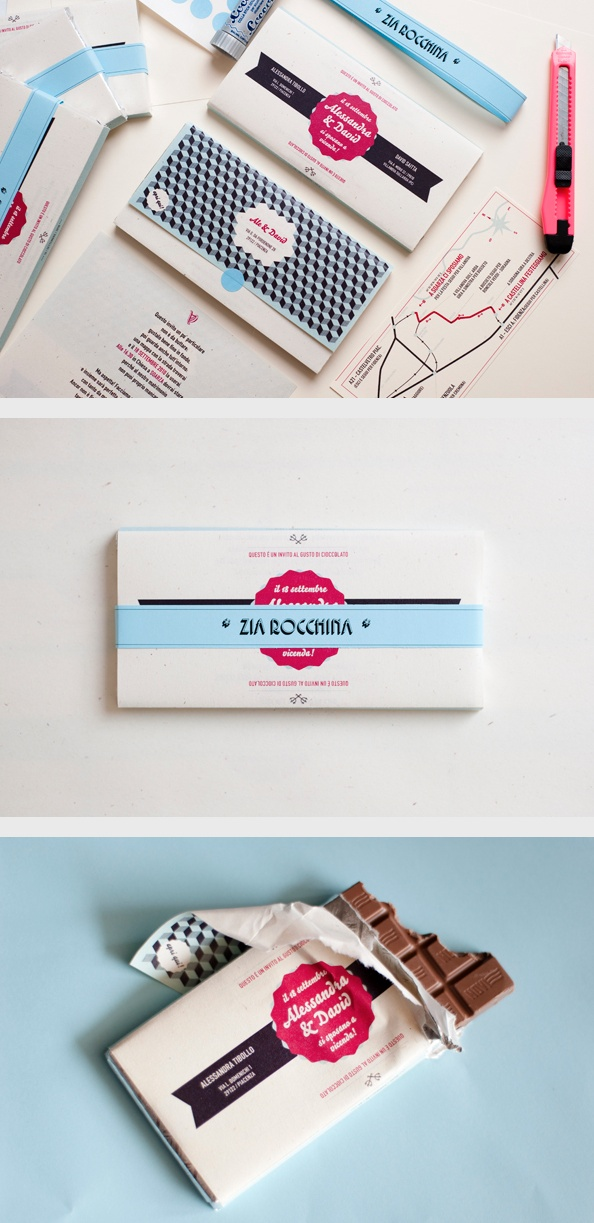 chocolate bar wedding invitations