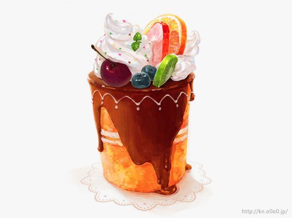 フルーツチョコレートケーキ