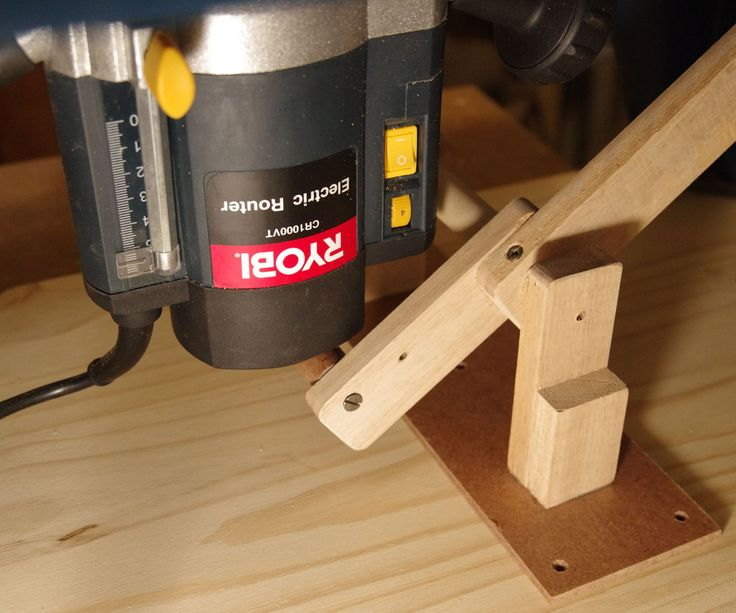 This is a simple and easy to make router lift for a small bench top router table. It's only meant to lift and lower the router easily, and does not have any fine adjustment or locking function in its present form. You just lift the router to where you want it, and then use the router's own depth lock, which is hopefully easily accessible under the table.I've found it works really well, and because of the leverage effect of the long handle, lifting and lowering is very fast, while still…