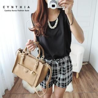 Buy 'CYNTHIA – Cutout-Back Plaid Panel Playsuit' with Free Shipping at YesStyle.ca. Browse and shop for thousands of Asian fashion items from Taiwan and more!