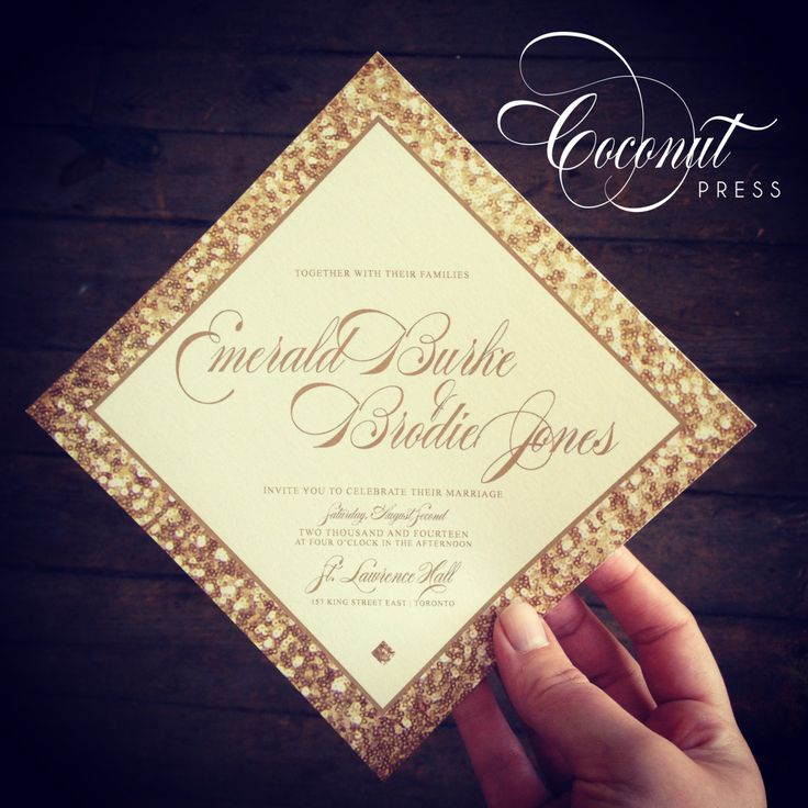 Glamorous Sequin Print Wedding Invitation // Glitter, Sequins, Sparkle // Invitations & Design by Coconut Press