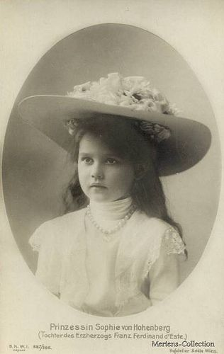Princess Sophie of Hohenberg, daughter of Archduke Franz Ferdinand and his wife Sophie Chotek