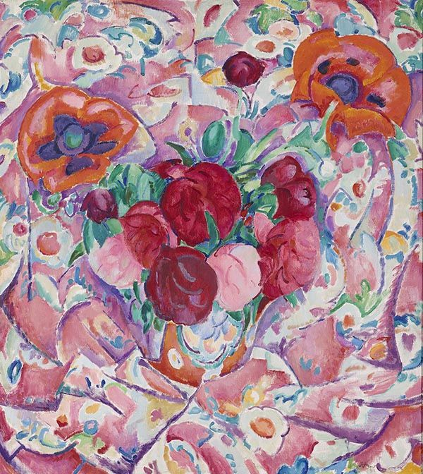 Leo Gestel (1881-1941) Pioenrozen, 1912 Olieverf op doek 100 x 90 cm Gemeentemuseum Den Haag #KleurOntketend