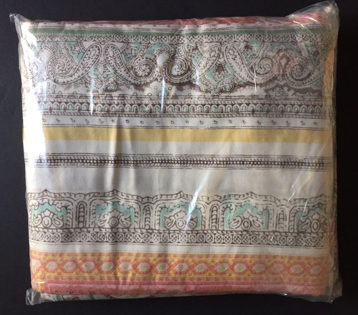 POTTERY BARN CLAIRE SCARF PRINT KING DUVET COVER NEW MEDALLION BOHEMIAN MULTI  | eBay