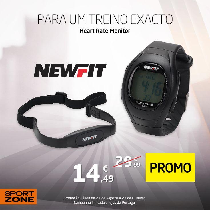 Controla o teu treino e obtém os melhores resultados! Aproveita esta super promoção: www.sportzone.pt/desporto/ginasio-fitness/acessorios/cardio/4867500-new-fit-frequencimetro