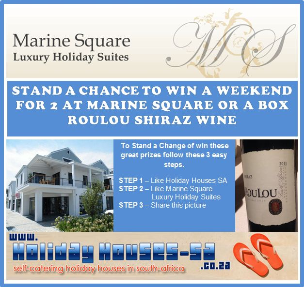 Follow our newsletter for Holiday Houses-SA and Marine Square and stand a chance to win luxury accommodation in Hermanus